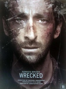 Movie Poster for Wrecked, Starring Adrien Brody